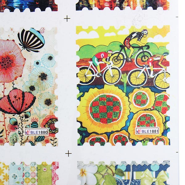 Nail Postage Stamp Decals