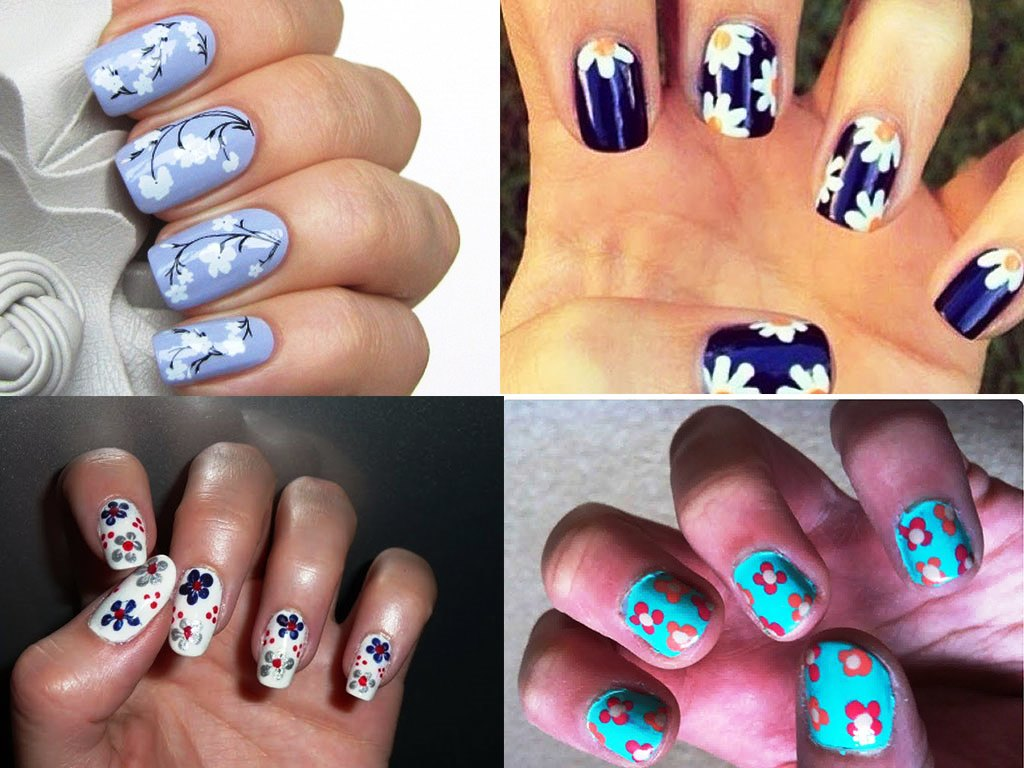 Flower Nail Art Trend in This Fall - Beauty Life