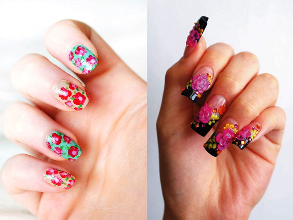 Flower Design Nail Stickers