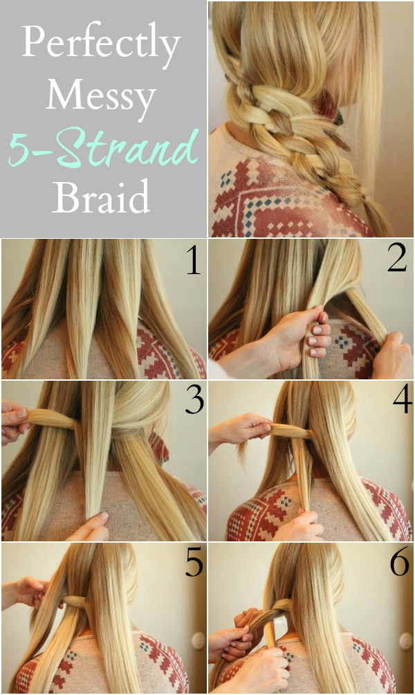 5strand braid  Hairstyle for long hair tutorial