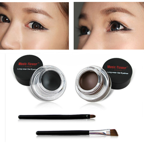 Black Brown Gel Eyeliner