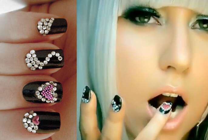 Glitter Rhinestone Nail Decoration