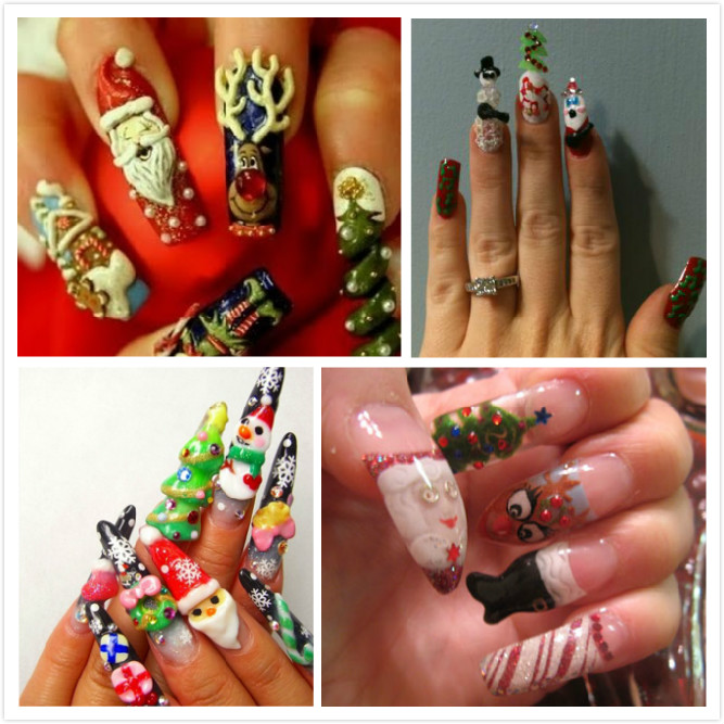 3d Christmas Nail Art Designs Hession Hairdressing