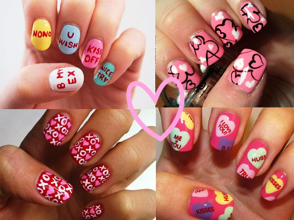 Valentine nail art for 2015 beauty life nail art prinsesfo Images