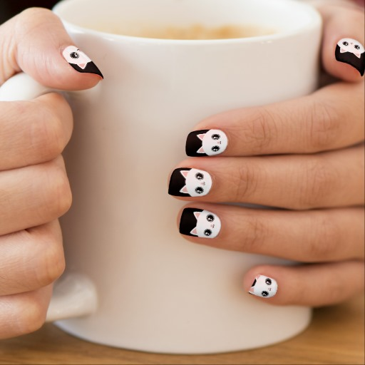 Cute Kitty cat nail art