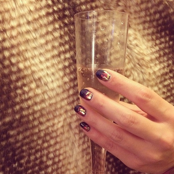 Sips and Tips nail art