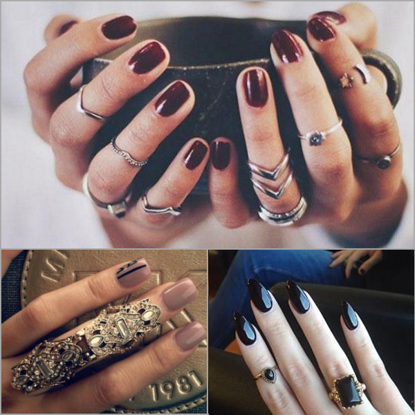 nail art and ring