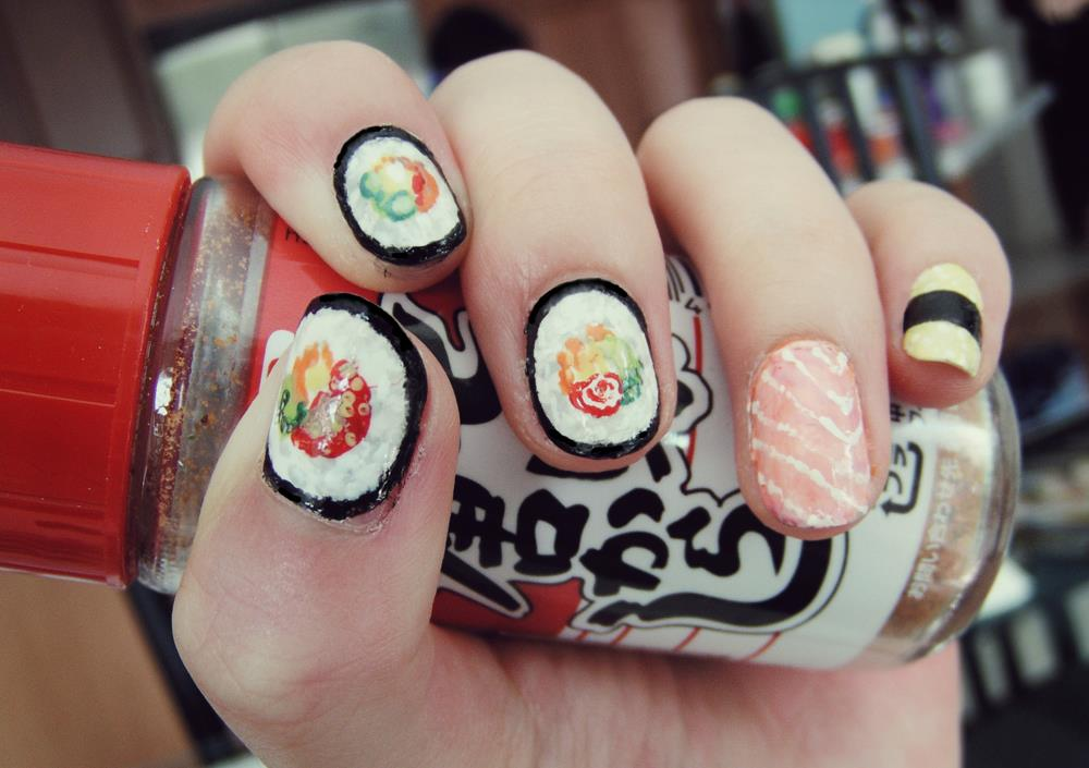 The Trend Of Sushi Nail Designs Beauty Life