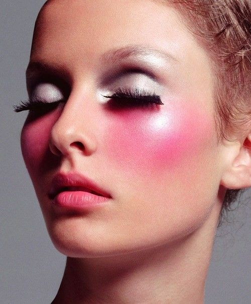 girl with blush makeup