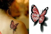 3D Butterfly Transfer Tattoo Sticker