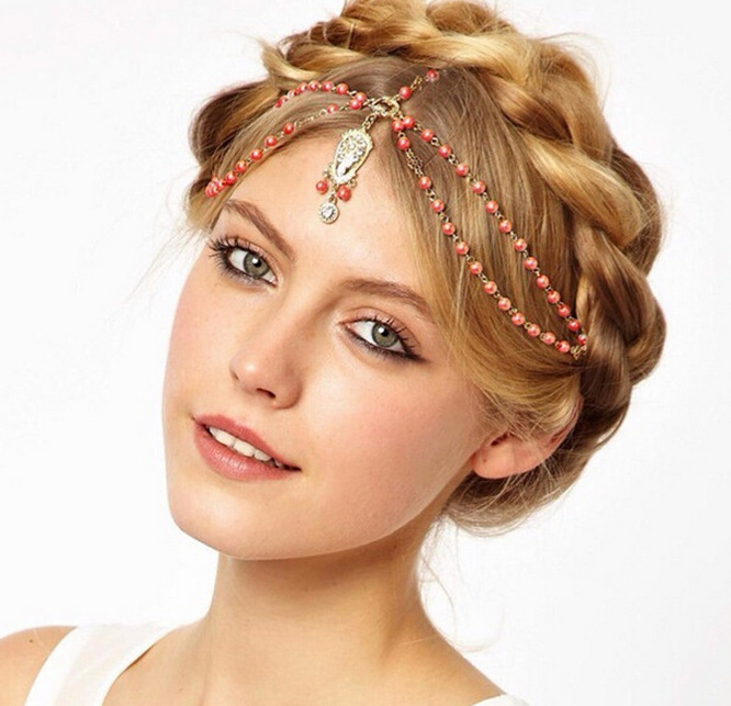 Beaded Pendant Hair band