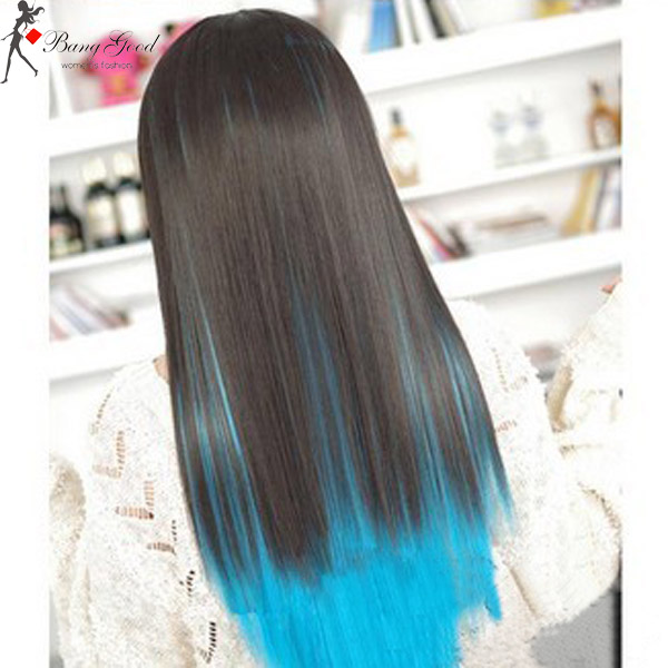 Cosplay Blue Highlight Wig
