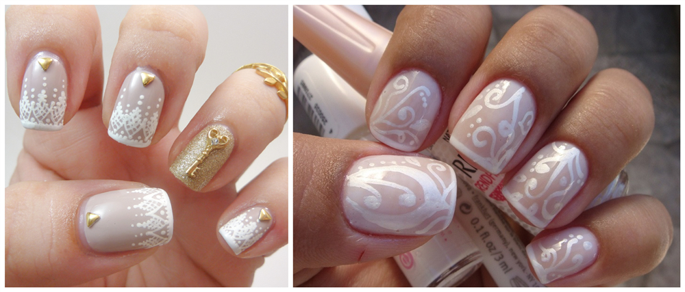 lace nail decals