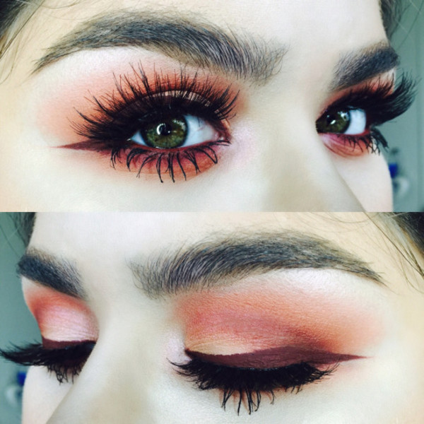 red toned eyeshadow