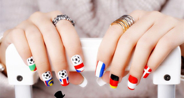 So What Nail Art Is In This World Cup Season Here Are Some Ideas