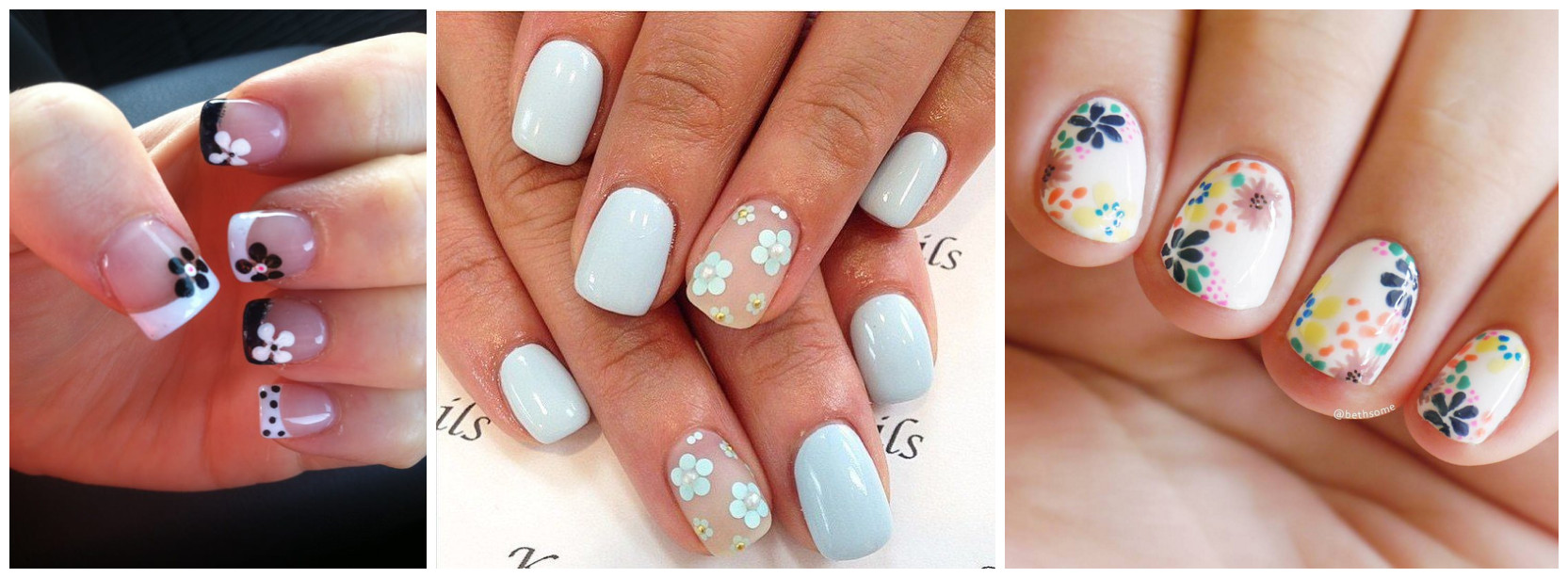 Get A Unique Touch With Flowery Nail Fashion Beauty Life